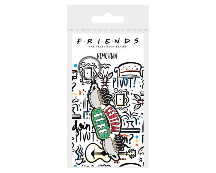 Friends (Central Perk Sketch) Rubber Keychain - Μπρελόκ