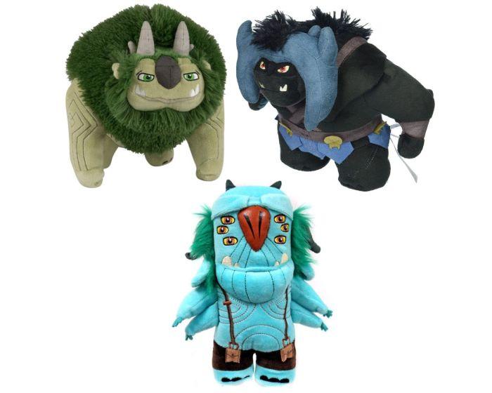 Funko Plushies Collectible Set of 3 Trollhunters - Blinkious, Arggh, Bular Plush