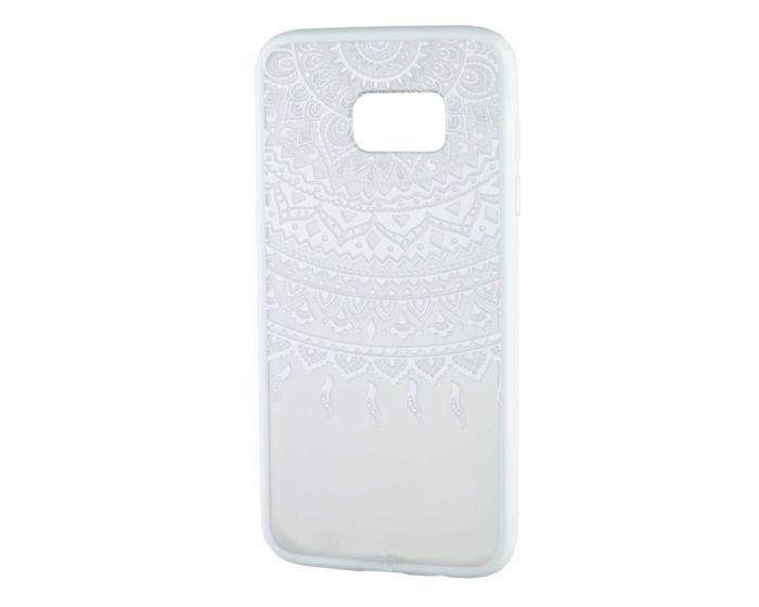 Fusion Σκληρή Θήκη με TPU Bumper Lace Design Sunfllower - White / Clear (Samsung Galaxy S7)