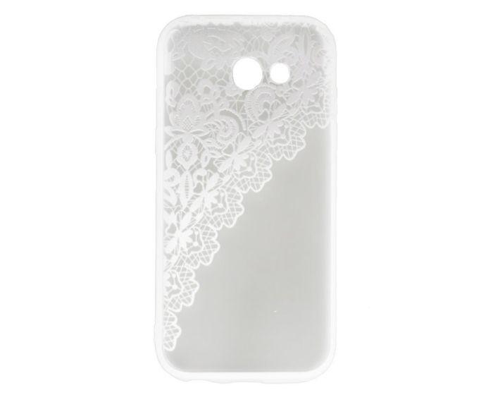 Fusion Σκληρή Θήκη με TPU Bumper Lace Design - White / Clear (Samsung Galaxy A5 2017)