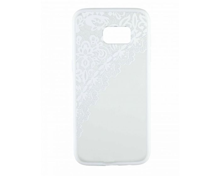 Fusion Σκληρή Θήκη με TPU Bumper Lace Design - White / Clear (Samsung Galaxy S7)