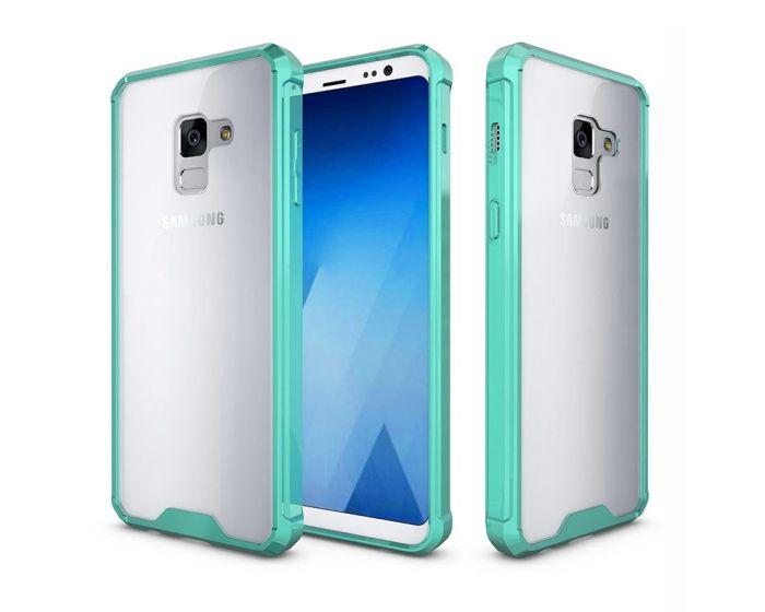 Hybrid Fusion Case Clear / Green (Samsung Galaxy A8 2018)