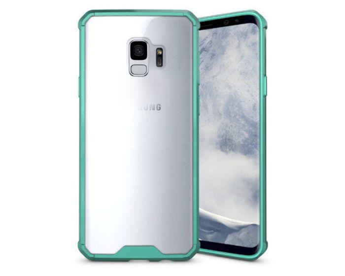 Hybrid Fusion Case Clear / Green (Samsung Galaxy S9)