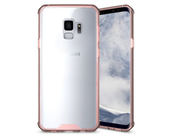 Hybrid Fusion Case Clear / Rose Gold (Samsung Galaxy S9)