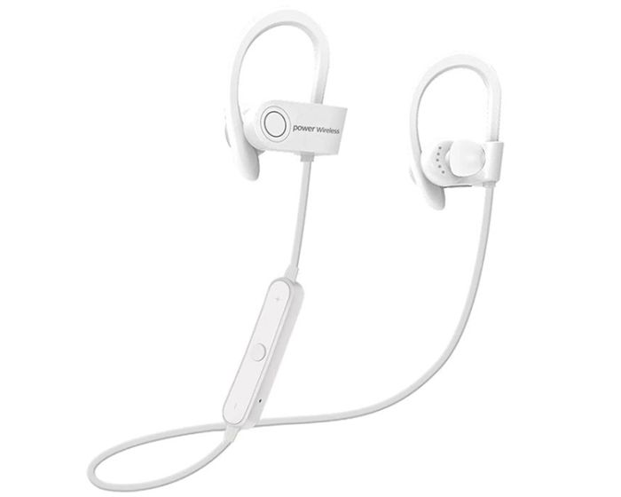 G5 Power 3 Bluetooth Sports Earphones Ασύρματα Ακουστικά White