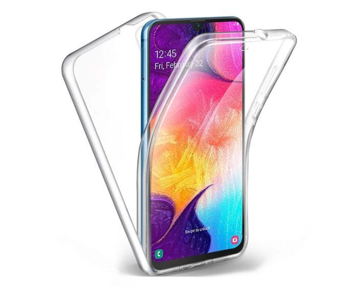 Forcell Full Face Ultra Thin 0.3mm Silicone Case Όψης & Πλάτης Διάφανη (Samsung Galaxy A10 / M10)