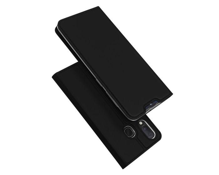 DUX DUCIS SkinPro Wallet Case Θήκη Πορτοφόλι με Stand - Black (Samsung Galaxy A20e)