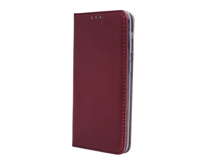 Forcell Magnet Wallet Case Θήκη Πορτοφόλι με δυνατότητα Stand Burgundy (Huawei P40 Pro)