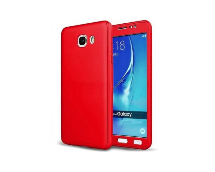 360 Full Cover Case & Tempered Glass - Red (Samsung Galaxy A5 2017)