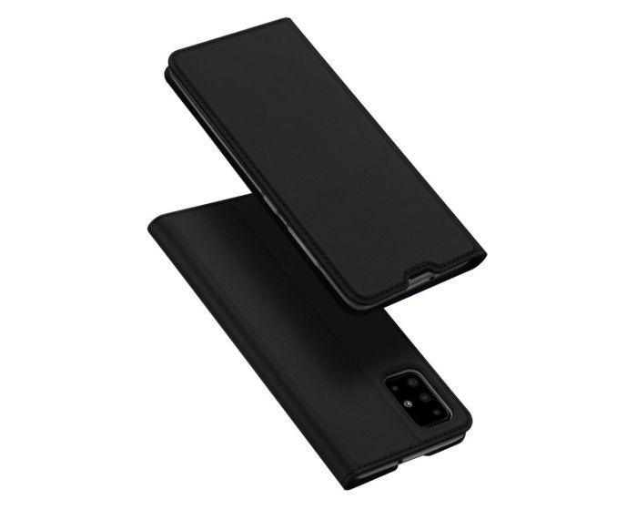 DUX DUCIS SkinPro Wallet Case Θήκη Πορτοφόλι με Stand - Black (Samsung Galaxy A51)