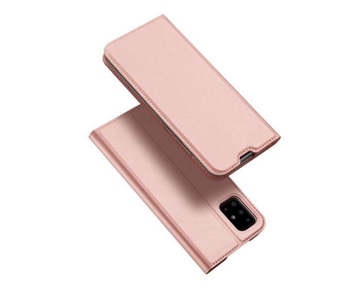DUX DUCIS SkinPro Wallet Case Θήκη Πορτοφόλι με Stand - Rose Gold (Samsung Galaxy A51)