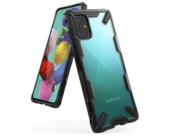 Ringke Fusion-X Σκληρή Θήκη με TPU Bumper Black (Samsung Galaxy A51)