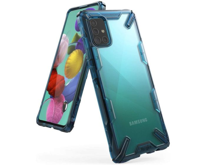 Ringke Fusion-X Σκληρή Θήκη με TPU Bumper Space Blue (Samsung Galaxy A51)