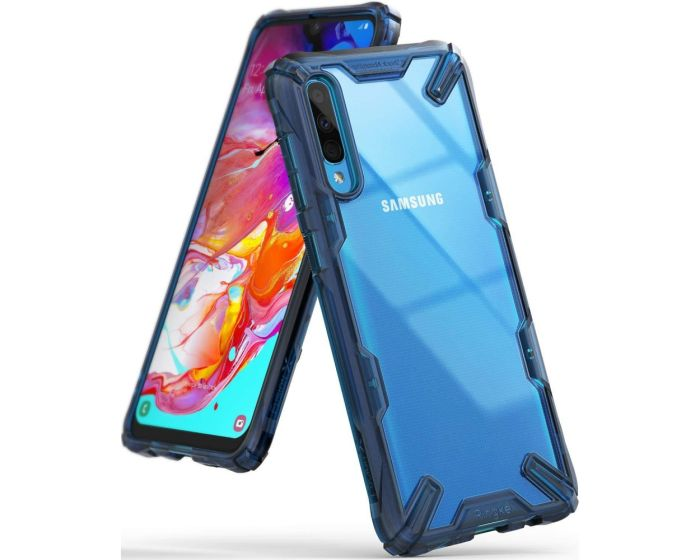 Ringke Fusion-X Σκληρή Θήκη με TPU Bumper Space Blue (Samsung Galaxy A70)
