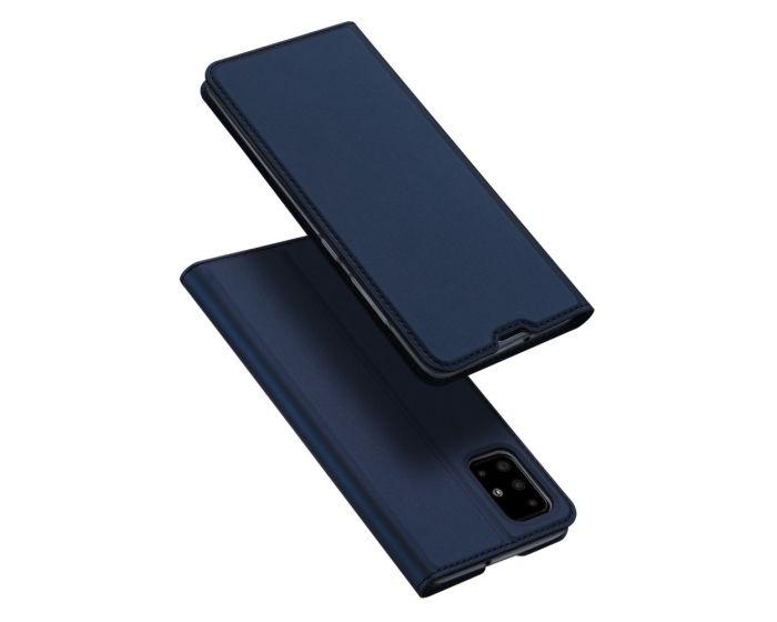 DUX DUCIS SkinPro Wallet Case Θήκη Πορτοφόλι με Stand - Navy Blue (Samsung Galaxy A71)