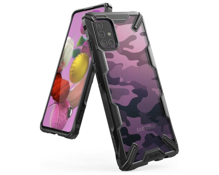 Ringke Fusion-X Σκληρή Θήκη με TPU Bumper Camo (Samsung Galaxy A71)