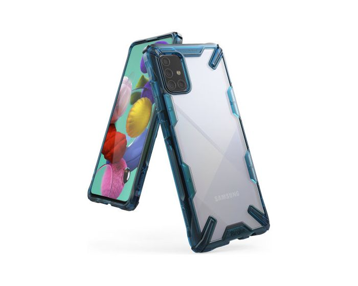 Ringke Fusion-X Σκληρή Θήκη με TPU Bumper Space Blue (Samsung Galaxy A71)