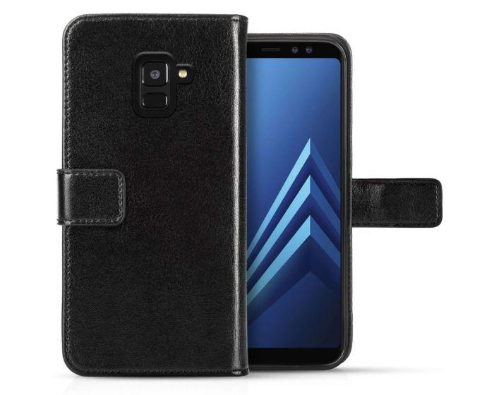 Centopi Δερμάτινη Θήκη Πορτοφόλι Wallet Case Μαύρο (Samsung Galaxy A8 2018)