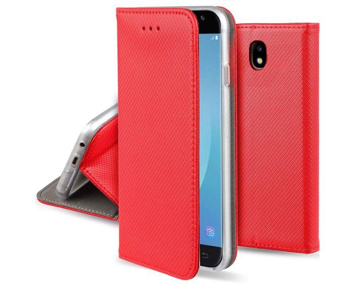 Forcell Smart Book Case με Δυνατότητα Stand Θήκη Πορτοφόλι - Red (Samsung Galaxy J7 2017)