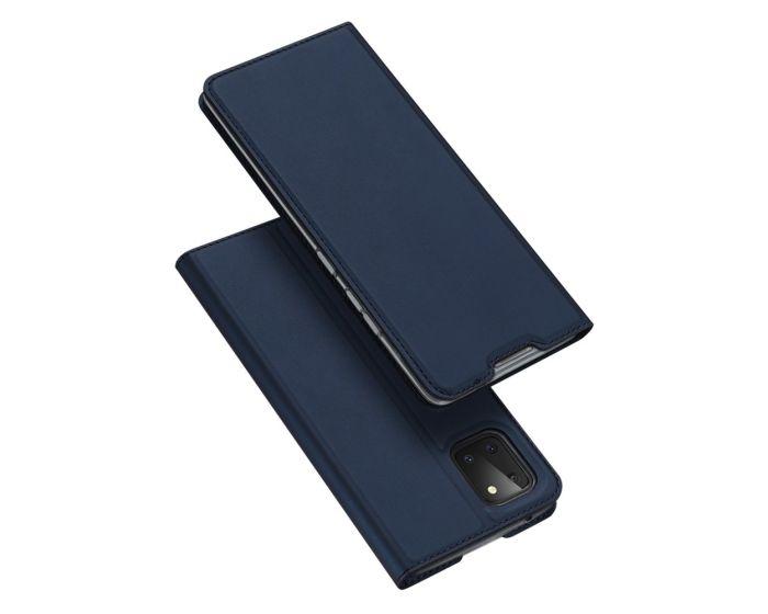 DUX DUCIS SkinPro Wallet Case Θήκη Πορτοφόλι με Stand - Navy Blue (Samsung Galaxy Note 10 Lite)
