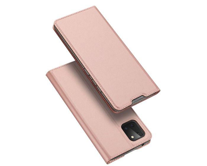 DUX DUCIS SkinPro Wallet Case Θήκη Πορτοφόλι με Stand - Rose Gold (Samsung Galaxy Note 10 Lite)