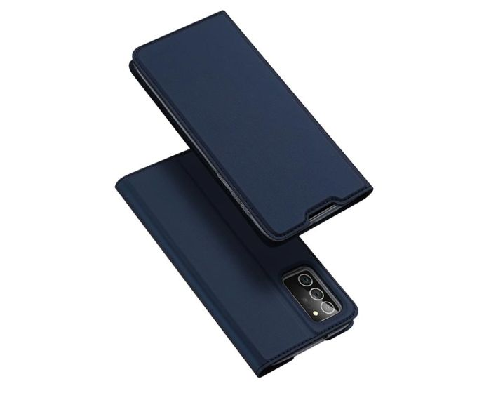 DUX DUCIS SkinPro Wallet Case Θήκη Πορτοφόλι με Stand - Navy Blue (Samsung Galaxy Note 20)