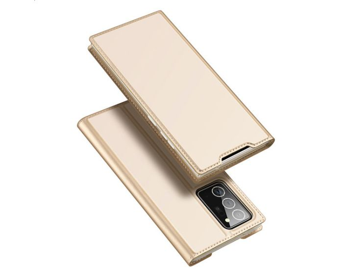 DUX DUCIS SkinPro Wallet Case Θήκη Πορτοφόλι με Stand - Gold (Samsung Galaxy Note 20 Ultra)