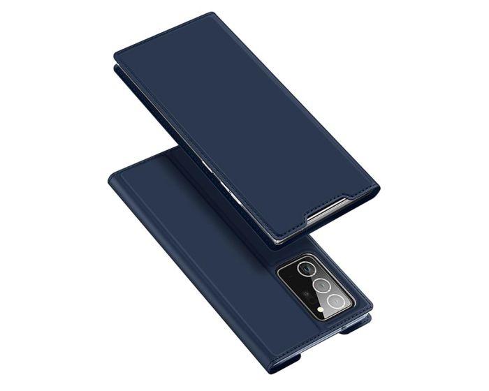 DUX DUCIS SkinPro Wallet Case Θήκη Πορτοφόλι με Stand - Navy Blue (Samsung Galaxy Note 20 Ultra)
