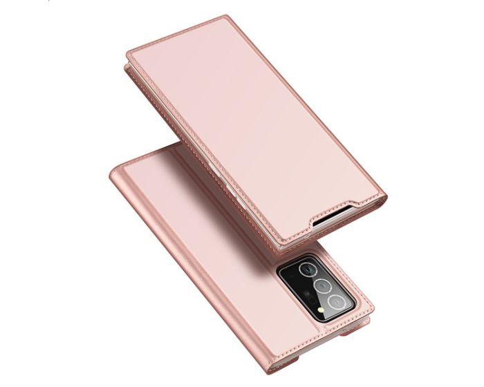 DUX DUCIS SkinPro Wallet Case Θήκη Πορτοφόλι με Stand - Rose Gold (Samsung Galaxy Note 20 Ultra)