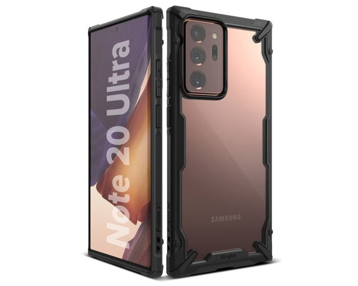 Ringke Fusion-X Σκληρή Θήκη με TPU Bumper Black (Samsung Galaxy Note 20 Ultra)
