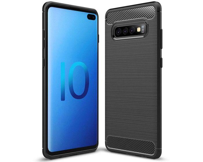 TPU Carbon Rugged Armor Case - Black (Samsung Galaxy S10 Plus)