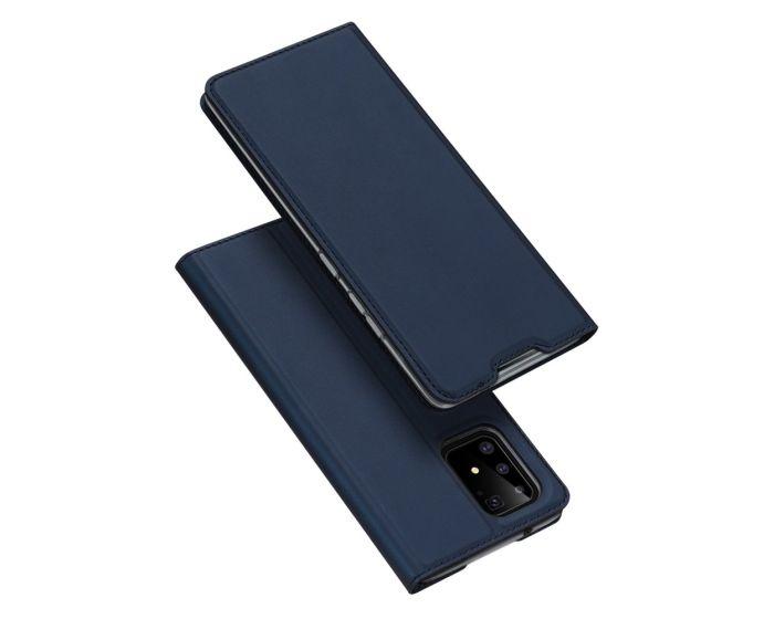 DUX DUCIS SkinPro Wallet Case Θήκη Πορτοφόλι με Stand - Navy Blue (Samsung Galaxy S10 Lite)