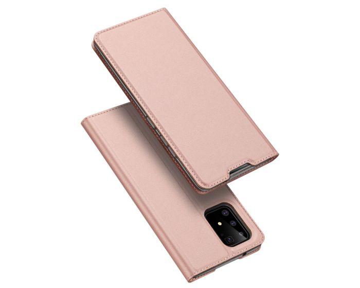 DUX DUCIS SkinPro Wallet Case Θήκη Πορτοφόλι με Stand - Rose Gold (Samsung Galaxy S10 Lite)