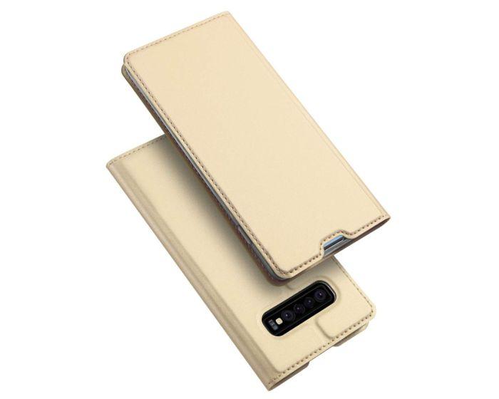 DUX DUCIS SkinPro Wallet Case Θήκη Πορτοφόλι με Stand - Gold (Samsung Galaxy S10 Plus)