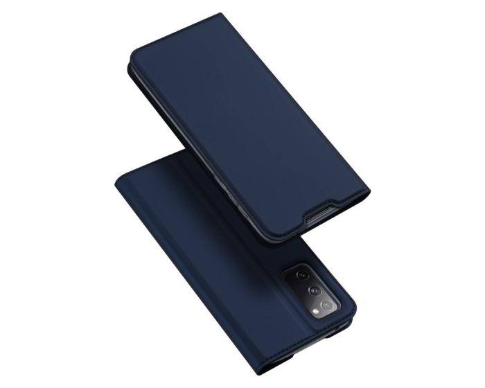 DUX DUCIS SkinPro Wallet Case Θήκη Πορτοφόλι με Stand - Navy Blue (Samsung Galaxy S20 FE)