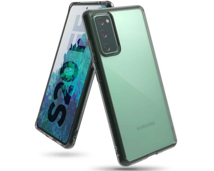 Ringke Fusion Σκληρή Θήκη με TPU Bumper Smoke Black (Samsung Galaxy S20 FE)