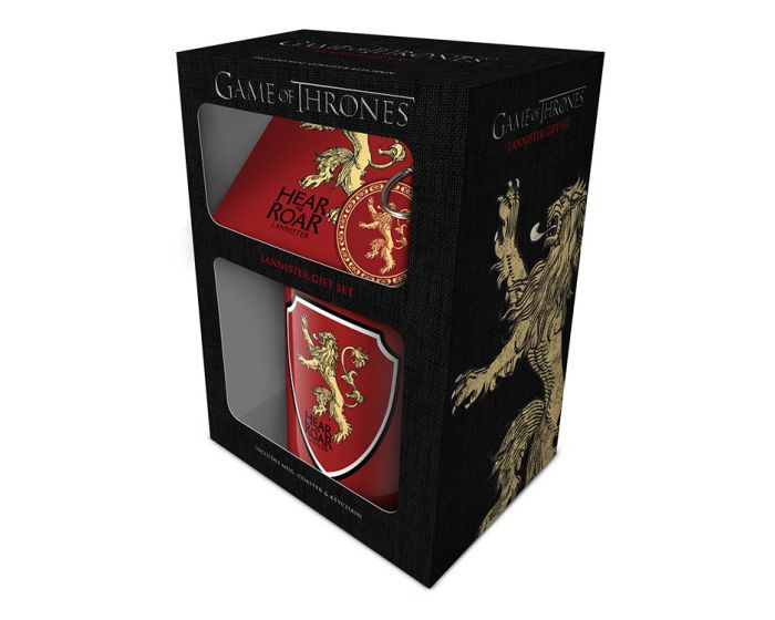 Game of Thrones (Lannister) Mug, Coaster and Keychain Set