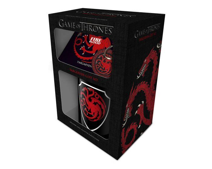Game of Thrones (Targaryen) Mug, Coaster and Keychain Set