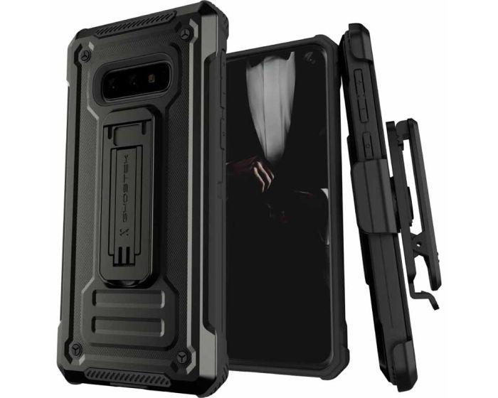 Ghostek Ανθεκτική Θήκη με Stand Iron Armor 2 με Κούμπωμα για την Ζώνη - Black (Samsung Galaxy S10e)