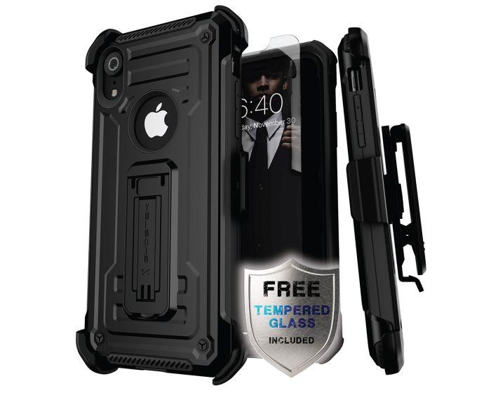 Ghostek Ανθεκτική Θήκη με Stand Iron Armor 2 με Κούμπωμα για την Ζώνη - Black (iPhone XR)
