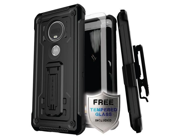 Ghostek Ανθεκτική Θήκη με Stand Iron Armor 2 με Κούμπωμα για την Ζώνη - Black (Motorola Moto G7)