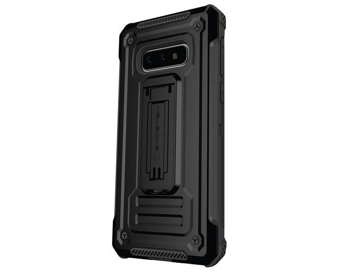Ghostek Ανθεκτική Θήκη με Stand Iron Armor 2 με Κούμπωμα για την Ζώνη - Black (Samsung Galaxy S10 Plus)