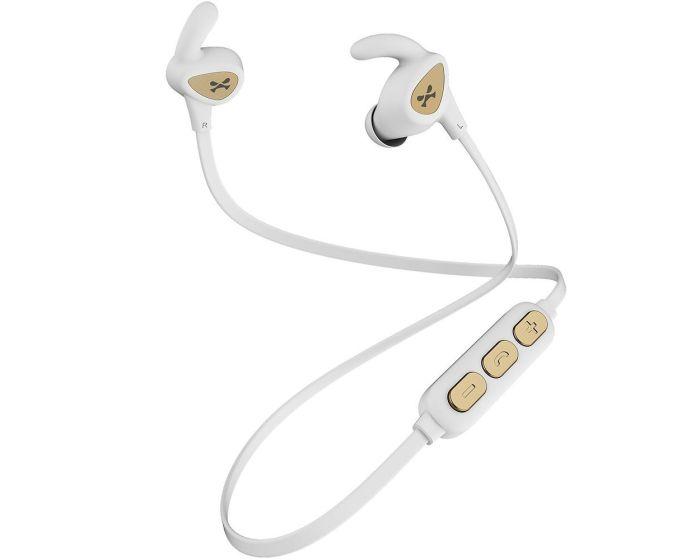 Ghostek Rush Wireless Bluetooth Sports Earbuds Ασύρματα Ακουστικά White / Gold