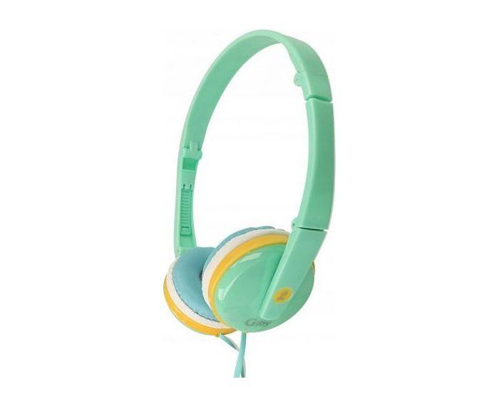 GJBY Audio Headphones (GJ-04) Παιδικά Ακουστικά 3.5mm με Καλώδιο 1.2m - Blue