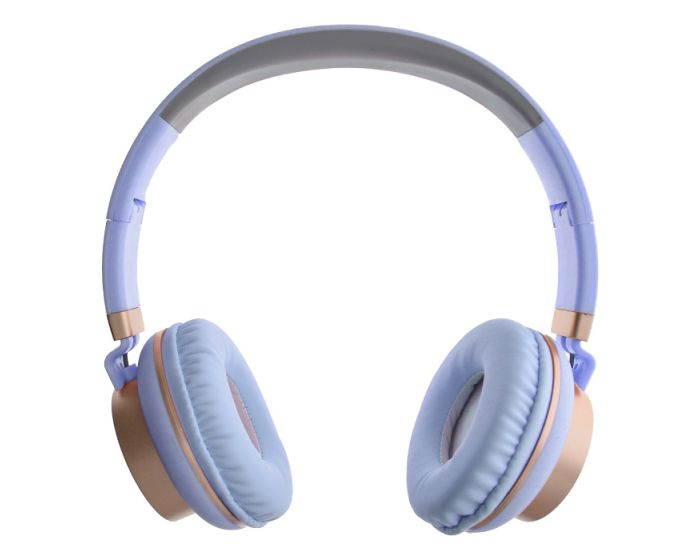 GJBY Audio Headphones (GJ-18) Ακουστικά 3.5mm με Καλώδιο 1.5m - Blue