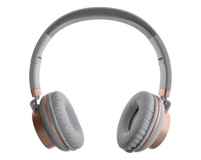 GJBY Audio Headphones (GJ-18) Ακουστικά 3.5mm με Καλώδιο 1.5m - Grey