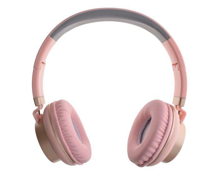 GJBY Audio Headphones (GJ-18) Ακουστικά 3.5mm με Καλώδιο 1.5m - Pink