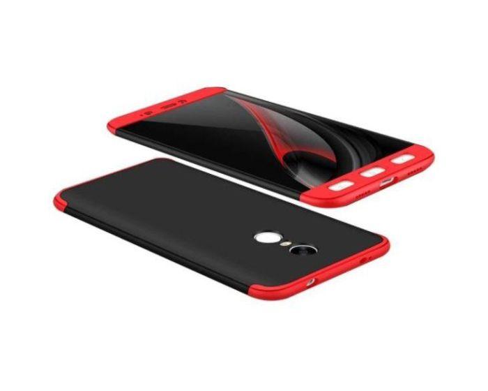 GKK Luxury 360° Full Cover Case Black / Red (Xiaomi Redmi Note 4 MediaTek)
