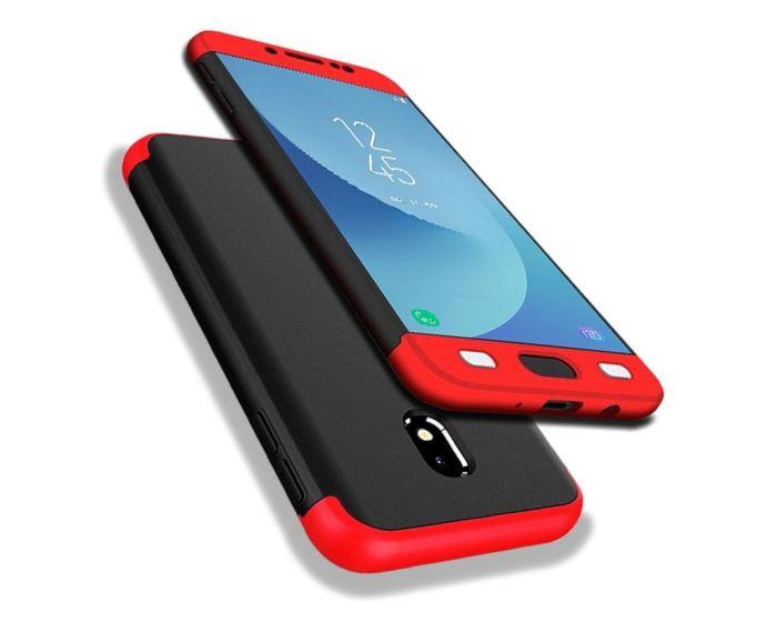 GKK Luxury 360° Full Cover Case Black / Red (Samsung Galaxy J3 2017)