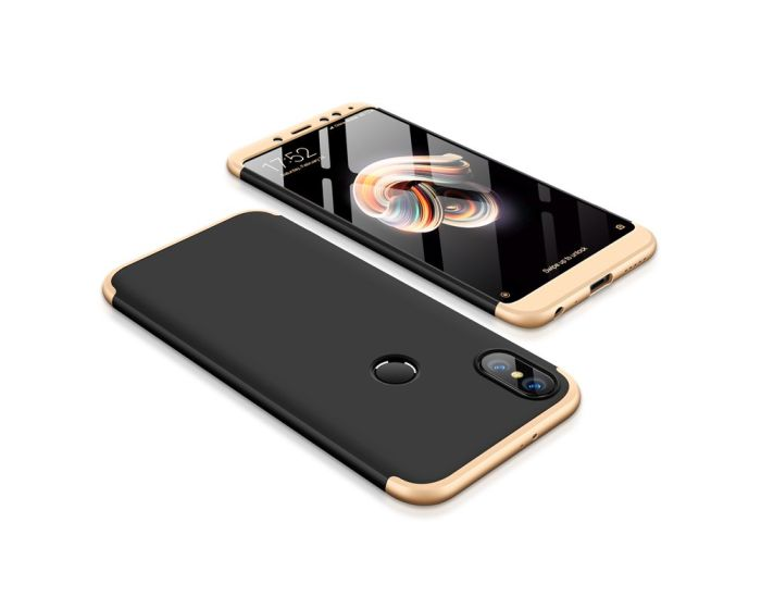 GKK Luxury 360° Full Cover Case Black / Gold (Xiaomi Redmi Note 5)